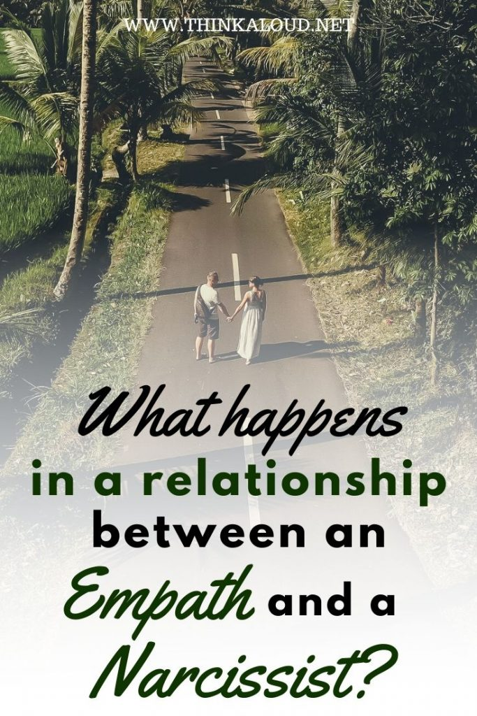 What happens in a relationship between an empath and a narcisst?