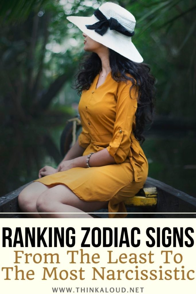 Ranking Zodiac Signs From The Least To The Most Narcissistic